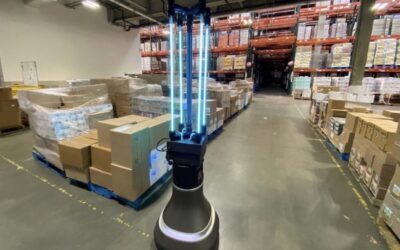 Warehouse Robots Disinfect Faster